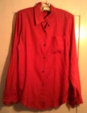 Valerie Stevens Red Pure Silk Long Sleeve Dress Shirt