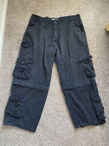 Vintage 90s Wide Leg Pants Skater Rave Size 44 Macgear Black Used