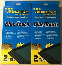 2 Packs of 2 Blue-Touch Jumbo Rat and Mice Glue Traps Total 4 Traps (32203)