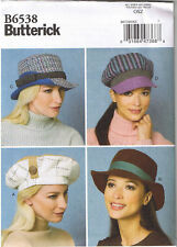 Misses Hats Fedora Newsboy Beret Winter Millinery Women Accessory Sewing Pattern