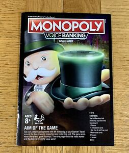 Hasbro Monopoly Voice Banking Board Game Replacement Spare Part - Instructions