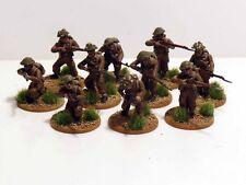28 mm Bolt Action chaîne de commandement WWII Infanterie Britannique 10 figurines peintes #1