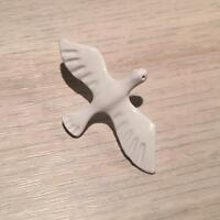 White Dove Lapel Pin - Men's Suit Accessory. Badge Fashion