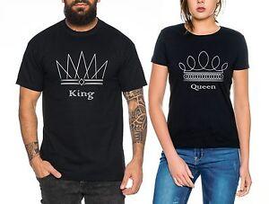 Brock Partner Look Pärchen T-Shirt Set King Queen für Pärchen als Geschenk