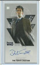 Topps Doctor Who Tenth Doctor Adventures David Tennant Silver Autograph #ed / 10