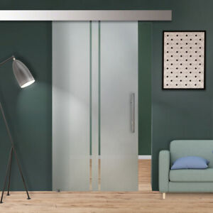 """34"""" x 81"""" Sliding Frosted Glass Barn Door Semi-Private 30% OFF"""