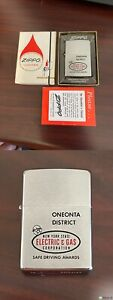 1966 Zippo Lighter New York State Electric Gas Safe Driving 52-66 W/ Box UNFIRED