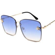 Big Square Glasses Oversized Metal Sunglasses Womens Outdoor Driving Eyewear