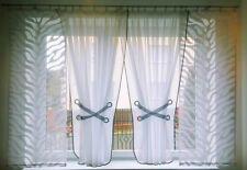 """"""" hg-amelia 2 """" Rideau prêt à poser en voile jacquard Beau blanc gris fenêtre"""