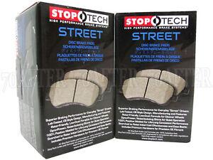 Stoptech Street Brake Pads (Front & Rear Set) for 13-15 Honda Crosstour