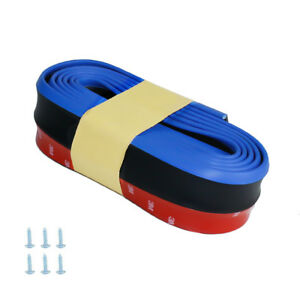 Blue Edge Scratch Resistant Soft Carbon Fiber Look Strips for Car Front Bumper
