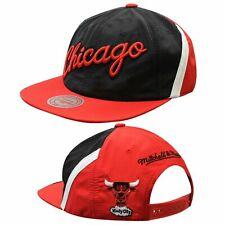 Mitchell & Ness Chicago Bulls Adjustable Snapback Adults Cap Hat Black BH78B8