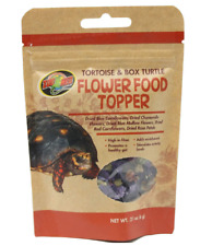 ZOO MED TORTOISE & BOX TURTLE FLOWER FOOD TOPPER 0.21 OZ. FREE SHIP TO THE USA