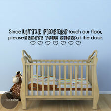 Little Fingers Touch Our Floor Please Remove Your Shoes Vinyl Wall Decal Sticker