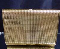 Vintage Elizabeth Arden Compact Rectangle Made In Switzerland Gold Tone Mirror