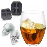 4 PCS Halloween Silicone 3D Ice Ball Cube Tray Skull Shape Mold Chocolate Baking