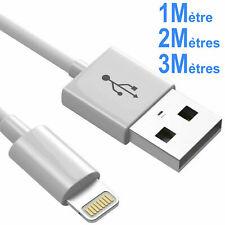 CABLE USB RENFORCE CHARGEUR RECHARGE SYNC POUR IPHONE 6 6S SE 7 8 11 PLUS X IPAD
