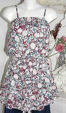 Lavand Kleid  Trägerkleid  Dress  Flower  Size: M Red  Neu