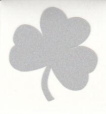 REFLECTIVE Notre Dame Fighting Irish shamrock 1.5 inch fire helmet decal sticker