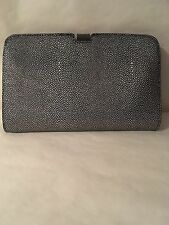 New Ladies Women's Grey Faux Leather Bubble Designed Evening Bag