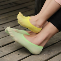 10 Pairs Womens Kid Invisible Nonslip No Show Loafer Boat Multicolor Silk Socks