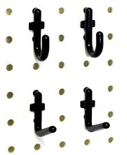 100 Pc Kit Black Locking Peg Hooks Garage Tool Storage Wall Organizer New