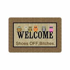 """Welcome Door Mat - Non Slip Owl Doormat Outdoor Indoor Entrance Rug 23.6""""X15.7"""""""