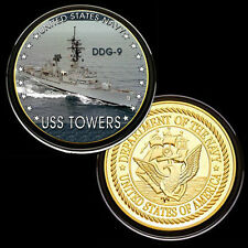 USS Towers (DDG-9) GP Challenge pinted Coin