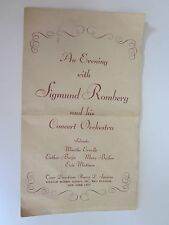 1943 Sigmund Romberg & His Concert Orchestra ad Rko Building New York City