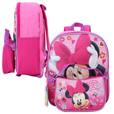 "Disney Minnie Mouse School 12"" Backpack + Insulated Hand Lunch Bag Purse Pink NW"