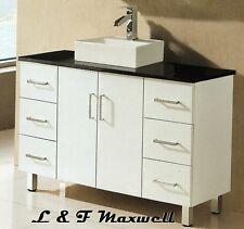 Bathroom Vanity with Stone Top and Ceramic Basin 1200mm