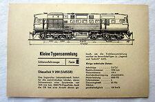DDR Kleine Typensammlung Schienenfahrzeuge - Diesellok V 200 (UdSSR)