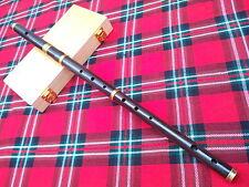 Professional Irish D Flute African Black Wood + Wooden Hard Case/Irish D Flute