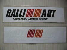 2 RALLI ART di-cut vinyl sticker decals, aftermarket racing sponsor, Mitsubishi.