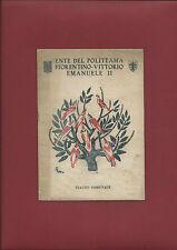 Programma Ente Politeama Fiorentino Vittorio Emanuele II Teatro Comunale 1932