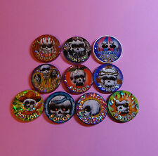 Pogs * 10 Poison Slammers * Variety Skulls * Plastic * Miscellaneous * Beautiful