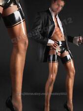 100% Latex Rubber Gummi 0.45mm Hosenträger Strümpfe Stockings Suit Ganzanzug Neu