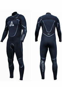 O'Shea Stealth 1 Front Zip 5 x 4 x 3 Mens Wetsuit Black
