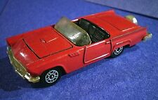 Corgi Jr. 1957 Ford Thunderbird T-bird red with opening hood-Dan Tanna Vegas