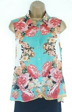 LOVELY TOPSHOP SUMMER SHIRT BLOUSE SZ 12 IN EXCELLENT CONDITION! FLORAL, FLOATY