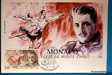 Yt  1533 BALLETS DE MONTE CARLO   MONACO  CARTE MAXIMUM 1° JOUR FCP