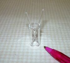 Miniature Glass Beaker w/2 Stirring Rods for 1/12 Scale Lab: DOLLHOUSE 1/12