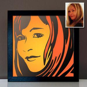 Pop Art Porträt Bild vom Foto malen lassen personalisiertes Geburtstagsgeschenk