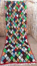 Moroccan boucherouite rug 315 x 105 cm