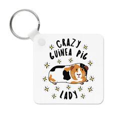 Crazy Guinea Pig Lady Stars Keyring Key Chain - Funny Animal