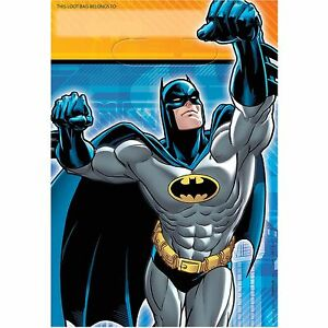 Batman Birthday Party Supplies Loot Lolly Treat Bags- Pack of 8