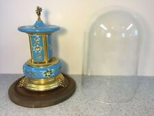 Vtg Musical Cigarette Dispenser Porcelain and Metal Music Box Works Maker?