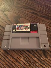 Bill Walsh College Football Super Nintendo SNES Cart Tested & Works SN1