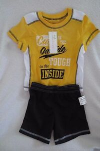 Boy First Impressions Short Set 2 pieces Size 18 Months Yellow Flow New