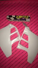 Rm 125 1989-1991 Radiator Rad Shrouds Scoops Ufo Nos White Suzuki Motocross Evo